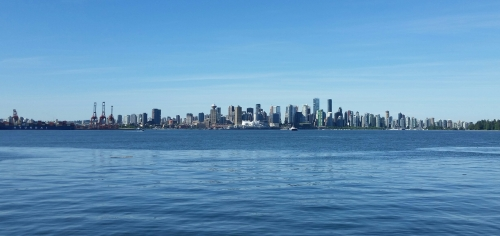 The view from the north shore across to Vancouver.